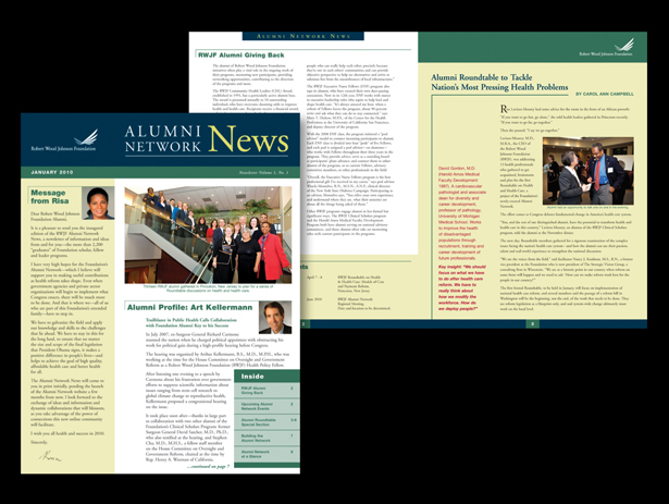 Newsletters for Robert Wood Johnson Foundation, Princeton, NJ